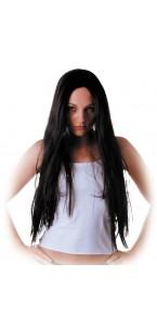 Perruque de sorcière noire Halloween