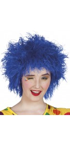 Perruque Frizzy bleue
