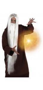Perruque magicien avec barbe