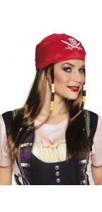 Perruque Mary La Pirate avec bandana
