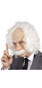 Perruque Professeur avec moustache et lunettes
