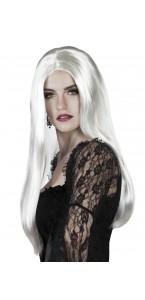 Perruque sorcière Halloween blanche