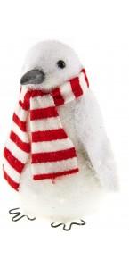 Pingouin déco tricot + écharpe