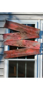 Planches ensanglantées effet bois Halloween