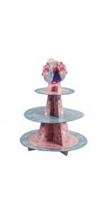 Présentoir à gâteau Reine des neiges 3 étages  41 x 36 cm