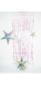 Rideau de porte irisé 92 cm x 2,5 m
