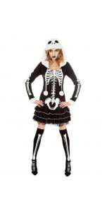 Robe squelette à capuche fille Halloween