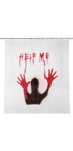 Rideau de douche help me Halloween 180 x 180 cm