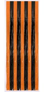 Rideau de porte métallique Halloween noir/orange 1,80 m