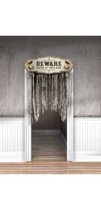 Rideau de porte Vaudou Witch Doctor Halloween 1,40 x 1 m
