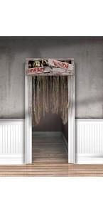 Rideau de porte Zombie Halloween 1,40 m x 96,5 cm