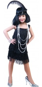 Robe Charleston fille noire