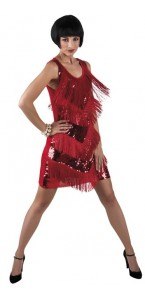 Robe charleston Gatsby Chicago rouge taille M