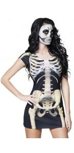Robe Photorealiste Squelette Halloween