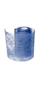 Rouleau de ruban déco bleu 10 cm x 10 m
