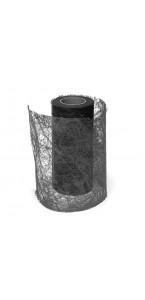 Rouleau de ruban déco noir 10 cm x 10 m