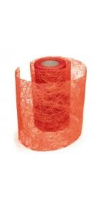 Rouleau de ruban déco rouge 10 cm x 10 m