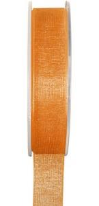 Rouleau de ruban organdi orange 25 m