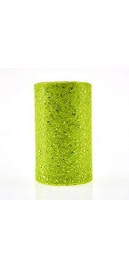 Rouleau de tulle vert pailleté 10 cm x 20 m