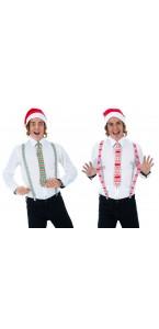 Set Noël - Bretelles/Bonnet/Cravate