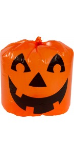 Sac polyester impression citrouille Halloween 30 x 25 cm