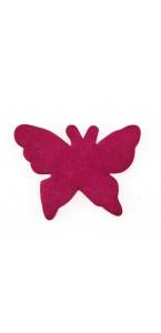 Sachet de 15 papillons gomme fuschia