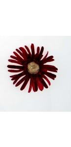 Sachet de 4 fleurs  gerberas bordeaux