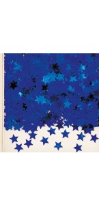 Sachet de confettis Etoile bleu métallique 14 g