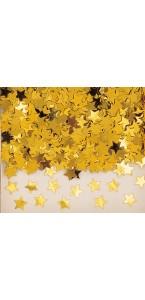 Sachet de confettis Etoile or métallique 14 g