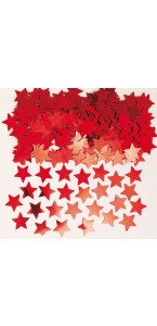 Sachet de confettis Etoile rouge métallique 14 g