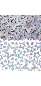 Sachet de confettis Etoile scintillant argent 14 g