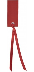 Sachet de12 marque-places en carton avec ruban bordeaux
