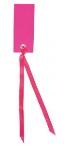 Sachet de12 marque-places en carton avec ruban fuschia