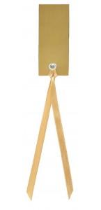 Sachet de12 marque-places en carton avec ruban or