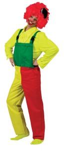 Salopette femme rouge jaune verte