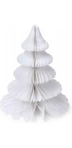 Sapin de Noël alvéolé blanc 29 cm