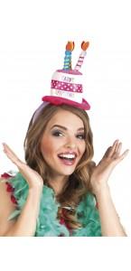 Serre tête chapeau Happy Birthday