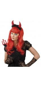 Serre-tête diable rouge avec trident