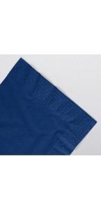 Serviettes bleu royal en papier ouate 2 plis 25 x 25 cm AVA
