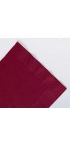 Serviettes en papier ouate bordeaux 2 plis AVA 40 x 40 cm