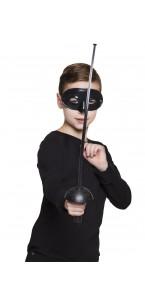 Set bandit masqué avec loup + épée 60 cm
