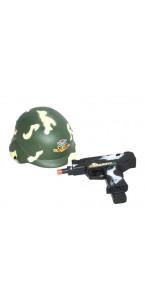 Set Casque militaire + pistolet