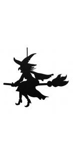 Sorcière à suspendre Halloween 29,5 x 0,8 x 38 cm