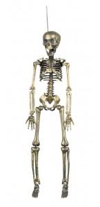 Squelette couleur or Halloween 42 cm