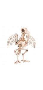 Squelette de corbeau beige Halloween 21 cm