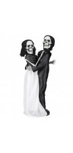 Suspension Couples De Mariés Squelette Halloween 41 Cm