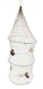 Suspension Filet de pêche coquillages 45 x 16 cm