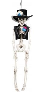 Suspension Squelette El Flaco Halloween 40 cm
