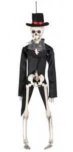 Suspension Squelette Marié Halloween 43 Cm