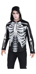Sweat à capuche Squelette Halloween